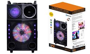bluetooth party speakers with lights qfx 12 portable bluetooth party speaker with led lights groupon