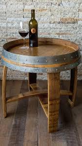 golden oak end tables golden oak wine barrel side table with cross braces metal barrel