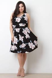 casual dress plus size floral print casual dress eazy fashion