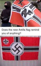 German War Flag Does The New Antifa Flag Remind You Of Anything