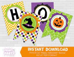 printable kid u0027s cute happy halloween banner cute halloween party
