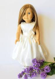 flower girl doll gift satin doll dress american girl doll dress 18 doll dress flower