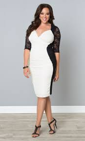 a black and white bodycon dress like our plus size valentine