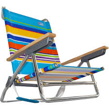 Rio Sand Chairs Rio 5 Position Layflat Beach Chair Sand Bar Stripe Low Seat