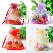 wholesale organza bags wholesale 50pcs lot multicolor small organza bags 7x9cm favor