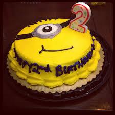 minions birthday cake round yellow cake from the bakery