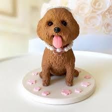 dog wedding cake toppers custom poodle cake topper dog wedding cake topper
