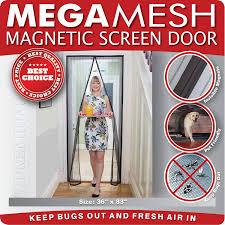 Patio Door Magnetic Screen Magnetic Screen Door Heavy Duty Reinforced Mesh Frame