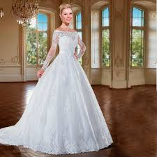 2016 winter white vintage wedding gowns long sleeve lace princess