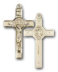 st benedict crucifix 14k gold st benedict crucifix medal at catholic shop