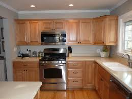 Maple Cabinet Kitchen Example Of Honey Maple Cabinets With Benjamin Moore Revere Pewter