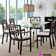 glass top dining room set modern dining room furniture design amaza design