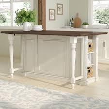 kitchen island with wood top august grove kitchen island with wood top reviews wayfair