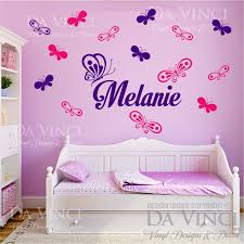 wall decals stickers home decor home furniture diy butterflies personalized custom name vinyl decal sticker wall room decoration c