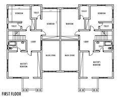 Duplex Townhouse Plans Sweet 8 Semi Duplex House Plans Plan Ch159d In Modern Architecture
