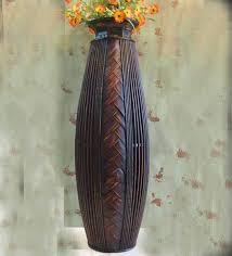 floor vases home decor antique large floor vase wood bamboo big floor vase retro living