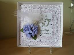 60th Wedding Anniversary Greetings Scottish Crafter Second 60th Wedding Anniversary Card