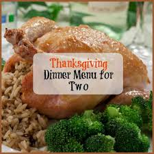 thanksgiving dinner menu for two mrfood