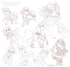 my little pony free sketches 4 by stepandy on deviantart