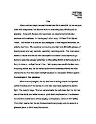 hemingway a clean well lighted place hemingway s short story a clean well lighted place a level