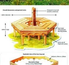 Circular Bench Around Tree Benches Built Around Trees Wooden Seating Around Trees Semi