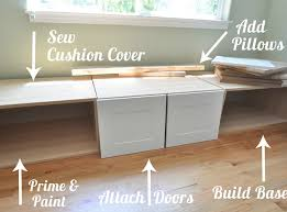 Build A Window Seat - building a window seat out of ikea cabinets http www