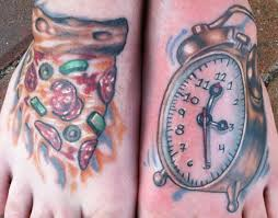 clock tattoo on hand 30 amazing pizza tattoos collection