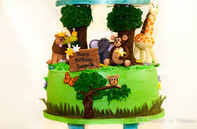 jungle theme cake jungle and sky themed cake baked in heaven