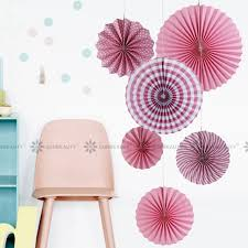 photo backdrop paper pink paper fan rosettes backdrop paper pinwheel garland party fans