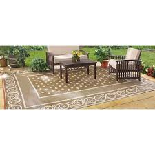 Polypropylene Rugs Outdoor by Amazon Com Guide Gear Reversible 9 U0027 X 12 U0027 Outdoor Rug Scroll