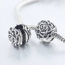 european bead charm bracelet images Free shipping 1pc silver rose clip stopper bead charm fits jpg