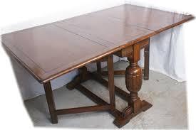 Vintage Drop Leaf Table Solid British Oak Bulbous Antique Drop Leaf Dining Table Classic