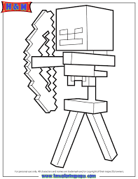 skeleton arrow minecraft game coloring u0026