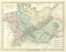 germania map and antique prints and maps ancient germany 1798 historical
