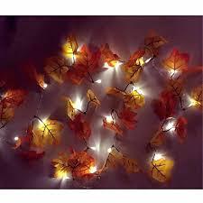 battery lighted fall garland meedoo 20led 8 2ft battery powered lighted fall garland orange and