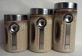 3 kitchen canister set 3 canister set modern kitchen with spoon attached