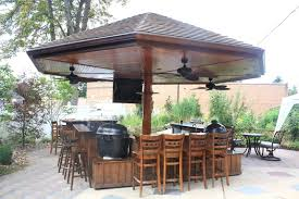 handmade primo grill outdoor kitchen and bar by deck kitchen