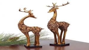 decorative table accents reindeer figurines tabletop
