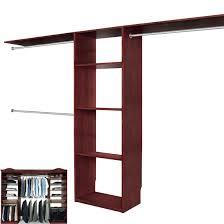 Wooden Closet Shelves by Solid Wood Closets Walk In Closet Organizer System Cherry Walk