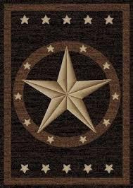 Barn Star Kitchen Decor by Western Stars Rug Black Brown Tan Texas Barn Star Rug Western