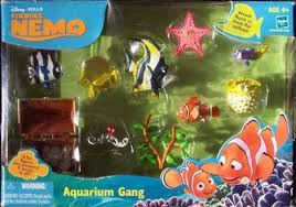 free finding nemo aquarium gang 10 piece figurine factory