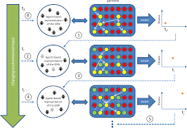 emergent adaptive behaviour of grn controlled simulated robots in