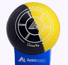aero groove lawn bowl in rare color combination of dark blue