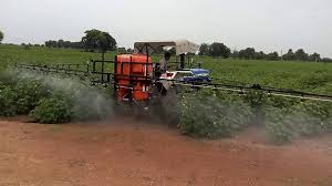 shaktiman rakshak tractor mounted boom sprayer youtube