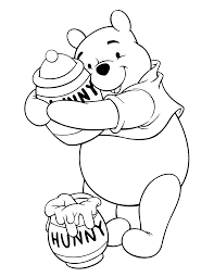 disney winnie yhe pooh clipart coloring pages
