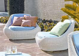 White Metal Patio Furniture - white modern outdoor furniture
