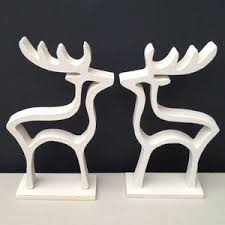 Reindeer Decoration Christmas White Reindeer Decoration Christmas Christmas Home