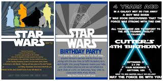 graphic design birthday invitations star wars birthday invites plumegiant com