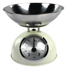 Traditional Kitchen Weighing Scales - ivory 5 kg traditional weighing kitchen scales bowl retro