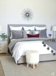 guest bedroom colors neutral guest bedroom neutral gray and white bedroom geometric